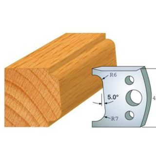 Profile 002 Spindle Moulder Cutters - 40mm Profile Knives & Limitors Set