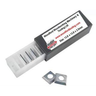 13.8 x 13.8 x 2.5mm Carbide Reversible Knife Turn Blade Tip Knives